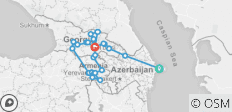Azerbaijan, Georgia & Armenia - 26 destinations