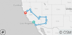 L A To The Bay Plus Ski Tahoe (12 Days) - 11 destinations
