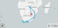 South Africa: From the Cape to Kruger with Victoria Falls 16 Days (14 destinations) - 14 destinations