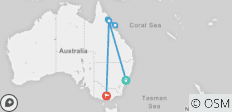 Australian Explorer with the Outback 13 days (from Sydney to Melbourne) - 7 destinations