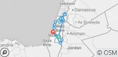 Highlights of the Holyland Trip - German Tour Guide - 8 Days - 18 destinations