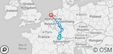 Castles along the Rhine (2022) (Basel to Amsterdam, 2022) - 12 destinations
