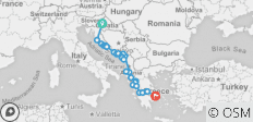 Explore The Balkans: Croatia, Bosnia, Montenegro, Albania and Greece on a 21-days tour from Zagreb! - 26 destinations