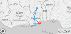 Ghana Wanderlust Tour - 7 destinations
