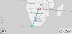 10-Days: Cape Town and Southern Africa Safari Tour. - 4 destinations