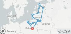 Poland and The Baltics off-season: UNESCO sites, Teutonic Knights castles and other beautiful destinations together with non-touristy historical places on a 21-days tour from Warsaw - 17 destinations
