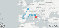 Mediterranean Journey - Start Paris , Small Group , 2021 (16 Days) - 14 destinations