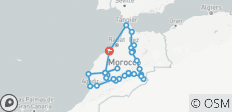 Morocco tour from Casablanca (Atlantic, Imperial Cities and Desert 28 Days) - 36 destinations