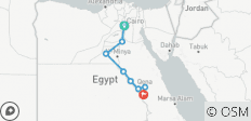 Cairo to Luxor 12 Days Long Nile Cruise - 9 destinations