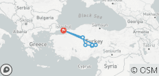 Istanbul - Ankara - Cappadocia | 4 Days with 1 flight - 11 destinations