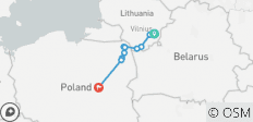 The Commonwealth guided cycling tour: Lithuania – Poland (another Commonwealth!) - 10 destinations