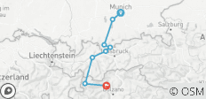 From Munich to Merano - 8 destinations