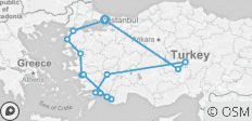 Best of Turkey by Land - 16 destinations