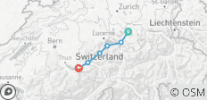 The Way of St James in Switzerland: Einsiedeln to Interlaken - 6 destinations