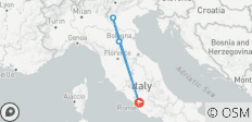 Italy by Rail: Eat, Dream, Love 6 Days/5 Nights - 4 destinations