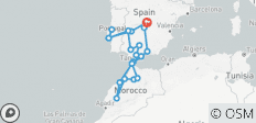 Portugal , Andalucia & Morocco, 16 days - 22 destinations