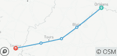 The Loire Valley individually - By bike from Orleans to Saumur (6 days) - 5 destinations