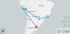 Brazil, Perú & Argentina - 15 days - 11 destinations