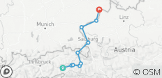 Tauern Cycle Route Bummlertour Krimml - Passau (10 days) - 10 destinations