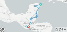 Mexico, Belize & Guatemala Adventure 14D/13N (from Cancun) - 15 destinations