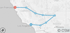 Los Angeles to San Francisco Express - 8 destinations