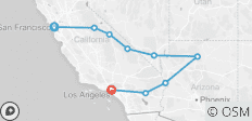 San Francisco to Los Angeles Express - 9 destinations