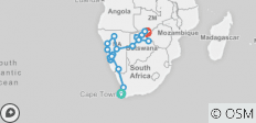 Cape to Falls - 22 days - 22 destinations