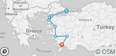 Istanbul to the Med - 7 days - 10 destinations