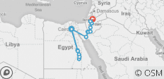 Egypt & Jordan Discovered By Nile Cruise (from Cairo to Amman) - 16 destinations