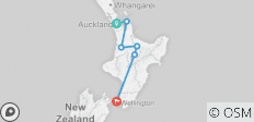 North Island Adventure Tour - 6 destinations