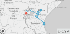 Ocean to Gorillas 26 Days - 11 destinations