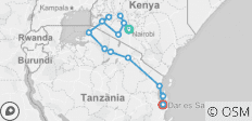 East Africa Encompassed - 16 days - 14 destinations