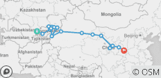 Silk Route between Tashkent and Xi\'an (Xi\'an to Tashkent) - 21 destinations
