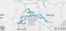 Africa East & South between Nairobi and Nairobi with Gorillas - 15 destinations