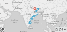 India Circuit between Chennai and Kathmandu - 16 destinations