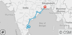 India Circuit between Chennai and Kolkata - 8 destinations