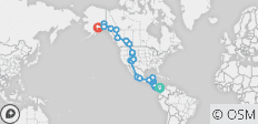North & Central American Overland (Panama City to Anchorage) - 73 destinations