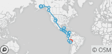 Journey along the Spine of the Americas (Cuzco to Anchorage) - 110 destinations