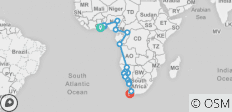 Gulf of Guinea to the Cape - 22 destinations