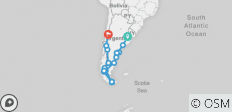 Patagonia & Beyond (Buenos Aires to Santiago - 2018/19) - 18 destinations