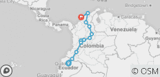 Andes & Amazon between Cartagena and Quito (Cartagena to Quito) - 13 destinations