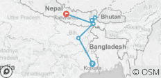 India Circuit between Kolkata and Kathmandu - 8 destinations