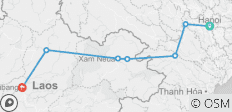 Hanoi to Luang Prabang by Bike - 7 destinations