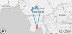 Highlights of Myanmar (Burma) - 9 destinations