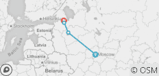 Moscow to St Petersburg - 4 destinations