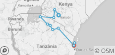 Kenya & Tanzania Adventure - 12 destinations