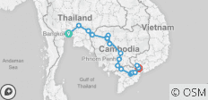 Cycle Indochina & Angkor - 23 destinations