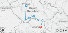 Cycle Prague to Vienna - 8 destinations