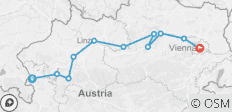 Salzburg to Vienna Cycle - 11 destinations