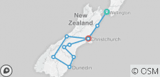 \'Sweet As\' South (Start Wellington, Base, 10 Days) - 10 destinations